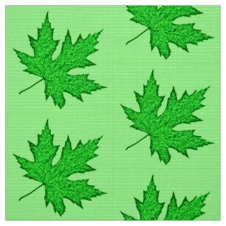 Oak leaf - shades of green fabric