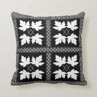 Oak Leaf White Black Nature Popular Pillows