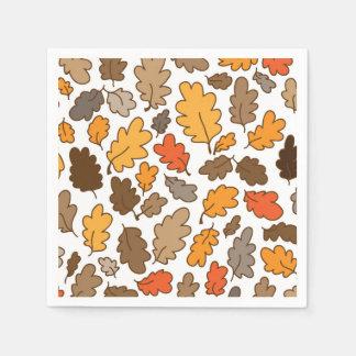 oak leaves autumn boho thanksgiving napkins paper napkin