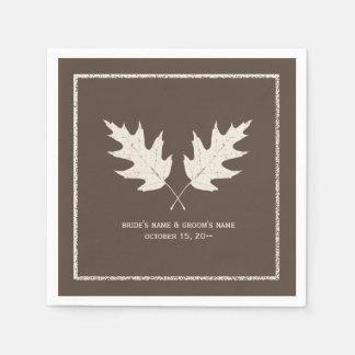 Oak Leaves Autumn Wedding Napkins Disposable Napkins