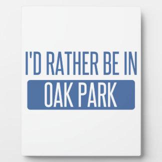 Oak Park Plaque