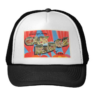 Oak Ridge Tennessee TN Old Vintage Travel Souvenir Trucker Hat