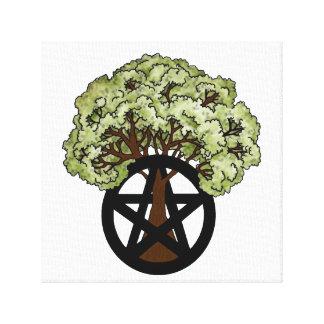 Oak Tree and Pentacle Canvas Print