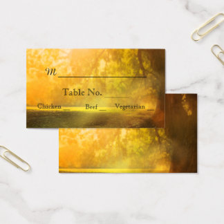 Oak Tree at Sunset Wedding Place Cards