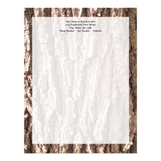 Oak Tree Bark Graphic Letterhead