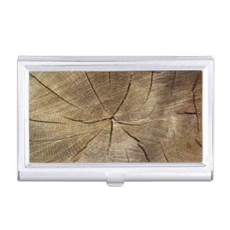 Oak Tree Cross Section Business Card Holder