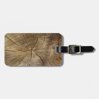 Oak Tree Cross Section Luggage Tag