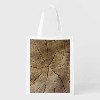 Oak Tree Cross Section Reusable Bag