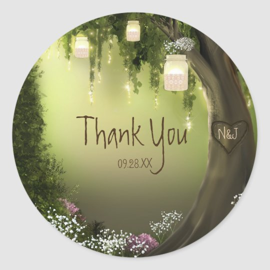 Oak Tree Enchanted Forest Garden Favour Stickers