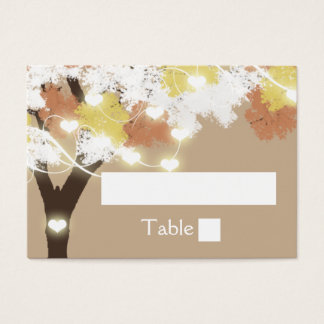 Oak Tree fall string lights Business Card