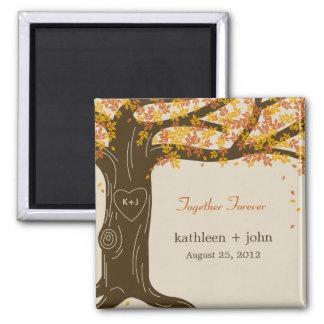 Oak Tree Fall Wedding Magnet Magnet