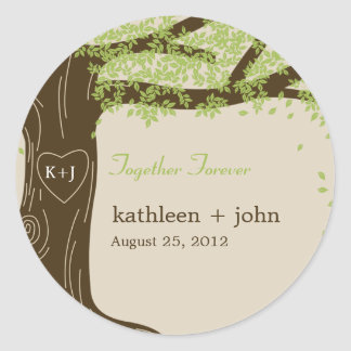 Oak Tree Favor Sticker Stickers