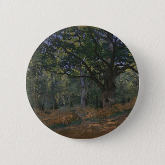 Oak tree in the forest 2 inch round button