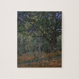 Oak tree in the forest jigsaw puzzle