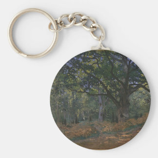 Oak tree in the forest keychain