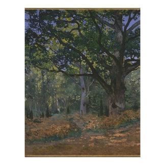 Oak tree in the forest letterhead