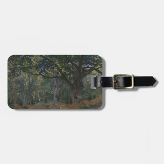 Oak tree in the forest luggage tag