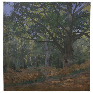 Oak tree in the forest napkin