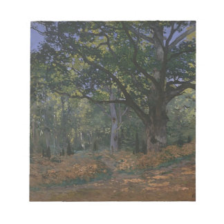 Oak tree in the forest notepad