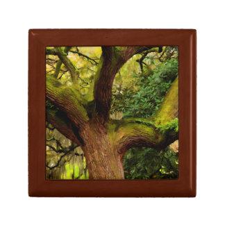 Oak tree jewelry box