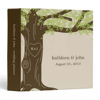 Oak Tree Personalized Binder Vinyl Binders
