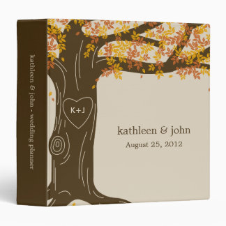 Oak Tree Personalized Binder - Orange