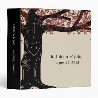 Oak Tree Personalized Binder - Red