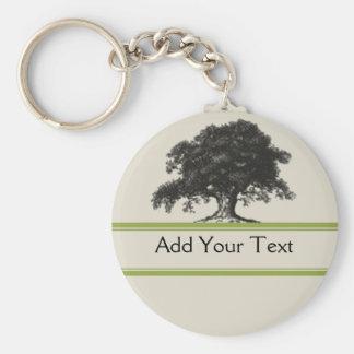 Oak Tree Plantation in Green Keychain