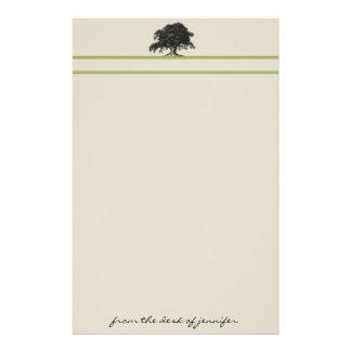 Oak Tree Plantation in Green Stationery Paper