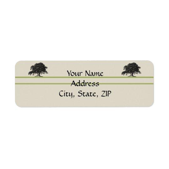 Oak Tree Plantation in Meadow Green Return Address Label