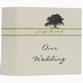 Oak Tree Plantation in Meadow Green Vinyl Binder