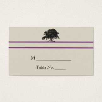 Oak Tree Plantation in Purple Wedding Place Cards