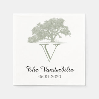 Oak Tree Plantation Wedding Napkin