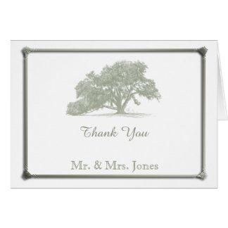 Oak Tree Plantation Wedding Thank You Card