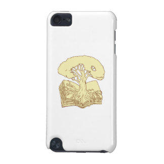 Oak Tree Rooted on Book Drawing iPod Touch 5G Covers