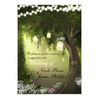Oak Tree Rustic Enchanted Forest Garden Invitation