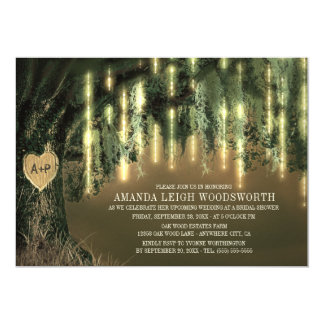 Oak Tree Spanish Moss Bridal Shower Invitations