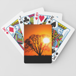 Oak Tree Sunset Bicycle Playing Cards