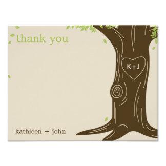 "Oak Tree Thank You Card 4.25"" X 5.5"" Invitation Card"
