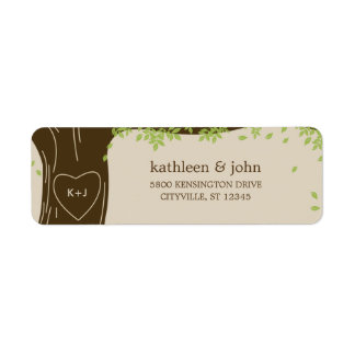 Oak Tree Wedding Address Labels