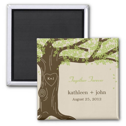 Oak Tree Wedding Magnet Fridge Magnets
