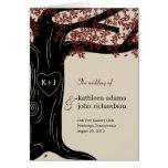 Oak Tree Wedding Program Card Cards