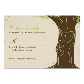 Oak Tree Wedding RSVP / Response Card