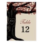 Oak Tree Wedding Table Number Card Postcard