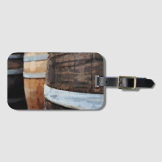 Oak Wine Barrel Bag Tag