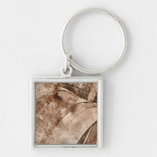 Oak Wine Barrel Keychain