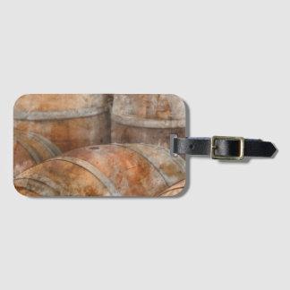 Oak Wine Barrel Luggage Tag