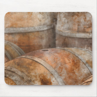 Oak Wine Barrel Mouse Pad