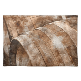Oak Wine Barrel Placemat