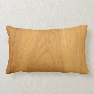 Oak wood grain novelty custom pillow